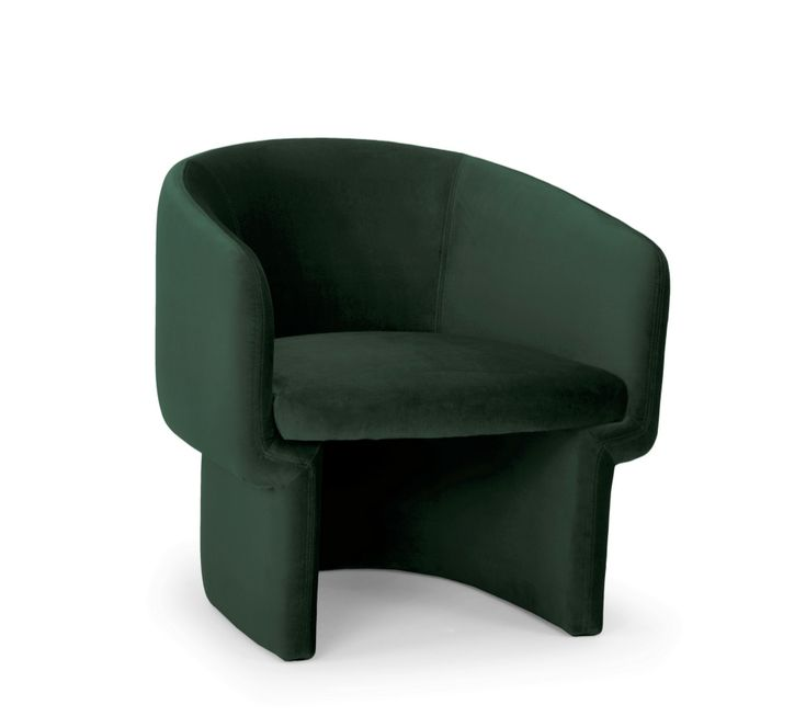 Jessie Accent Chair In Dark Green In 2020