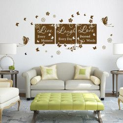Live, Laugh, Love II! Live every moment, Laugh every day, Love beyond words! Bli motiverad och inspirerad dagligen när du går förbi denna väggdekor. De snyggt kombinerade orden samt textstilen kommer definitivt få väggen att sticka ut.  Länk till produkt: http://www.feelhome.se/produkt/live-laugh-love-ii/   #Homedecoration #art #interior #design #Walldecor #väggdekor #interiordesign #Vardagsrum #Kontor #Modernt #vägg #inredning #inredningstips #heminredning #citat #lycka #kärlek #enkelt
