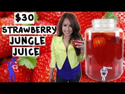 How to make Strawberry Jungle Juice for under $30! - Tipsy Bartender - YouTube