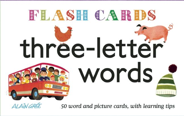 Three-Letter Words - Flash Cards