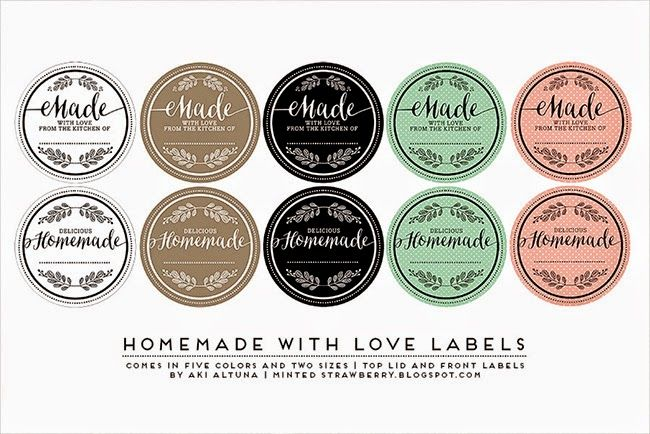 Free Printable: Another Mason Jar Label-these are for when I cook something for someone.