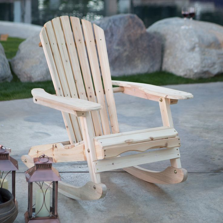 Coral Coast Adirondack Rocking Chair - Natural - The Coral Coast Coley Adirondack Rocking Chair – Unfinished makes for a great addition to any indoor or outdoor location. This Adirondack rocker...