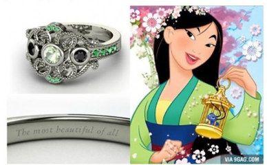 Un amore da favola: gli anelli di fidanzamento ispirati alle principesse #Disney | #Mulan