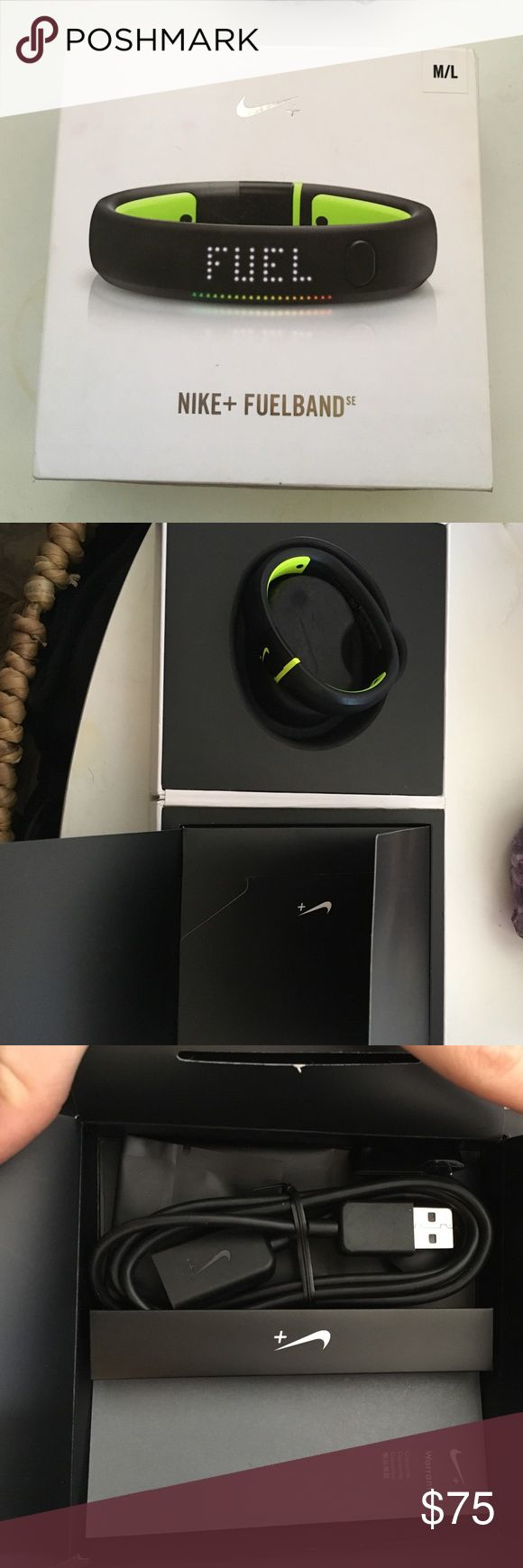 Nike fuel band M/L Brand new Nike fuel band never used. Size m/l retails over $100..open to reasonable offers. To big for my tiny wrists. Nike Accessories Watches