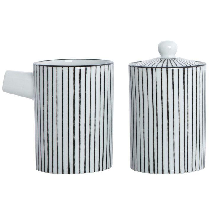 Pen Stripes mjölk & socker-set i gruppen Servering / Serveringstillbehör / Kannor & Karaffer hos RUM21.se (116211)
