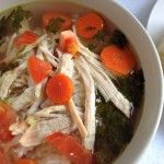 Healthy Caldo Xochitl Soup (Pretty Soup) Recipe. I like to top it with Salsa and Avocado.