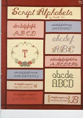 Script Alphabets Cross Stitch Pattern Book | eBay