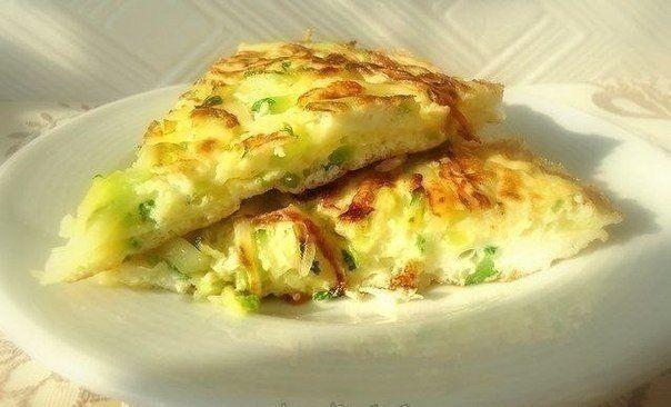 Omeleta s cuketou