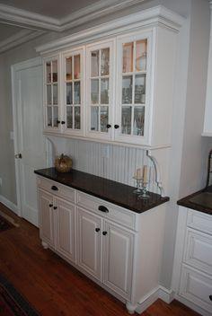 Image result for kitchen cabinet hutch built ins