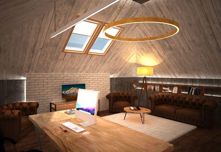 кабинет под крышей