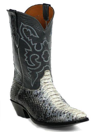 Blackjack rattlesnake skin boots