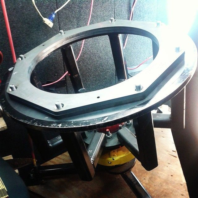 """19"""" internal diameter rings retrofitted for """"Big Mo"""". We use these for sinking and fine shaping."""