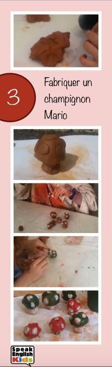 Le champignon de Mario en argile