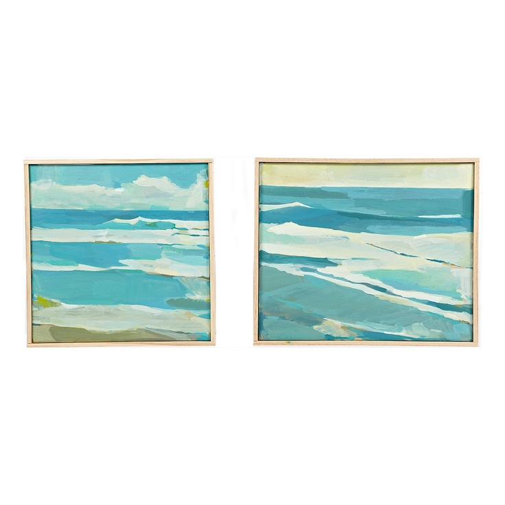 I would love a modern-y ocean painting like these.