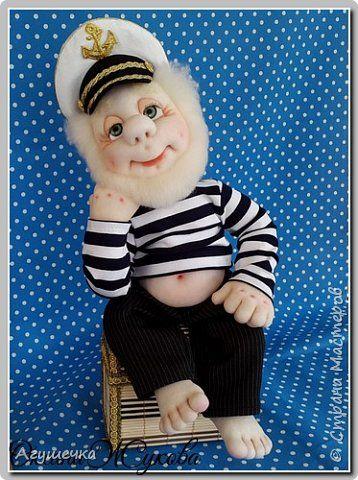 Куклы 23 февраля День рождения Шитьё Морячок Капрон Ткань фото 1