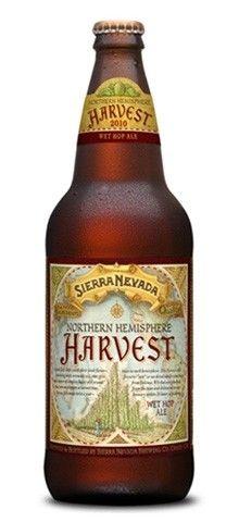 Cerveja Northern Hemisphere Harvest Wet Hop Ale, estilo India Pale Ale (IPA), produzida por Sierra Nevada Brewing Company, Estados Unidos. 6.7% ABV de álcool.
