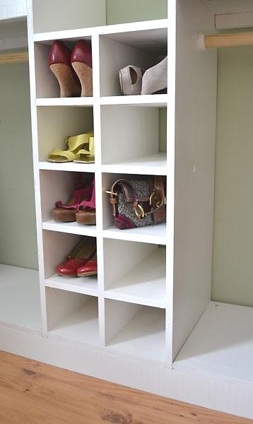 Master closet system shoe cubbies diy tutorial for Diy master closet ideas