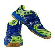 V22 Ultra Badminton Court Shoe Color Blue Neon Green