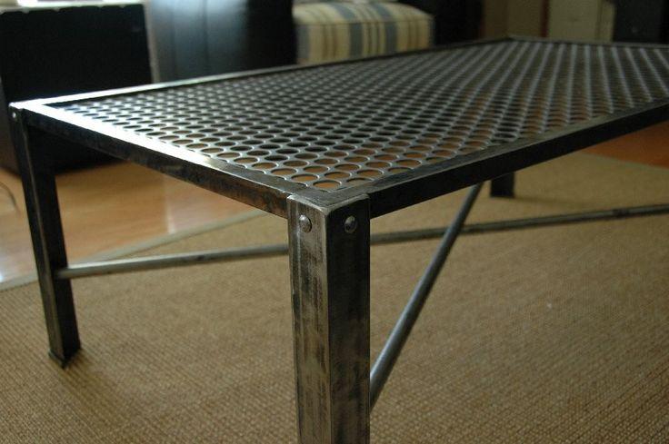 Industrial Metal Coffee Table