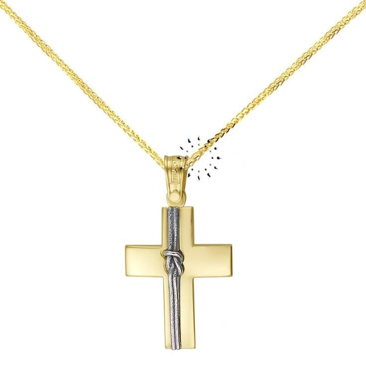Σταυρός 14 Καράτια Χρυσό και Λευκόχρυσο ΤΡΙΑΝΤΟΣ  435€  http://www.kosmima.gr/product_info.php?products_id=15617