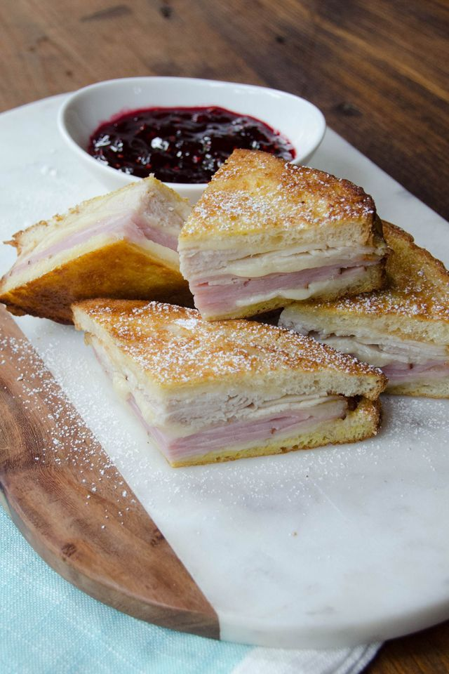 It's a toss up whether you make this recipe for breakfast or lunch - either way, the air fryer makes quick work of a Monte Cristo Sandwich.