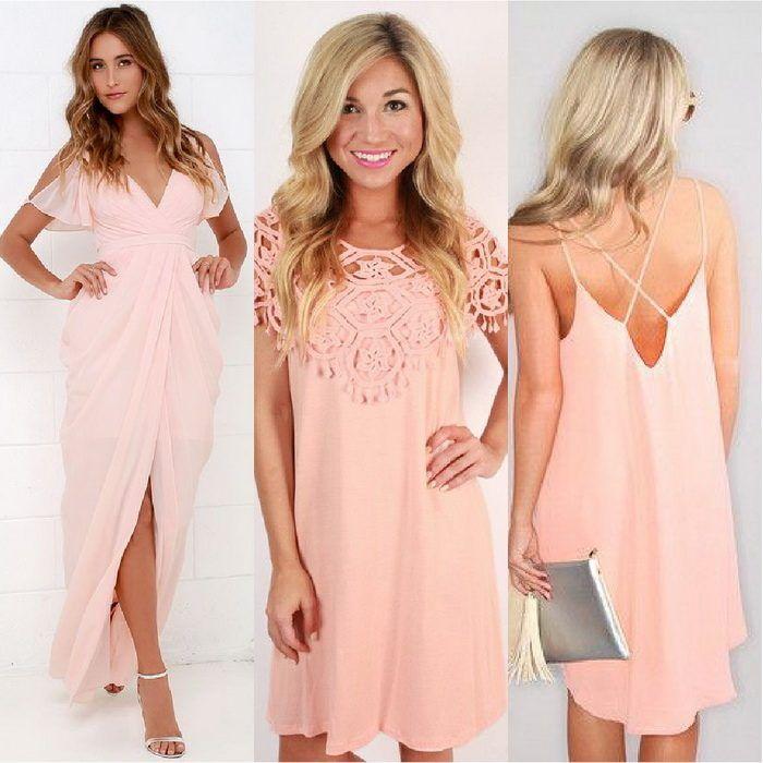 Персиковое платье - невероятная нежность