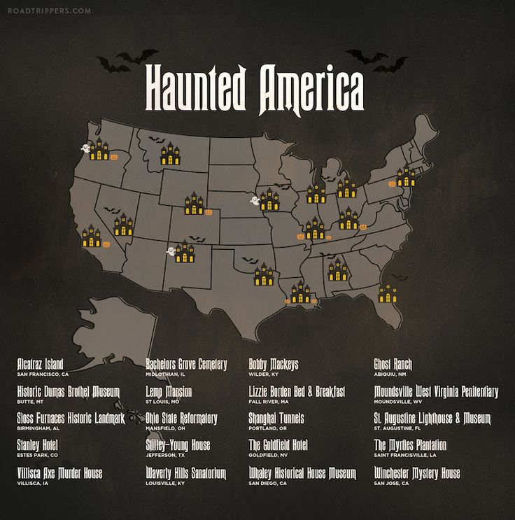 There are plenty of haunted places in America. In fact, at Roadtrippers, we're kind of experts on that sort of thing. So with Halloween just days away, we made you a terrifying, spine-tingling, scare-fueled guide to the top 20 most haunted places that you can actually visit on Halloween. If you're looking for some real pants-crapping scares this season, look no further than Haunted America!: