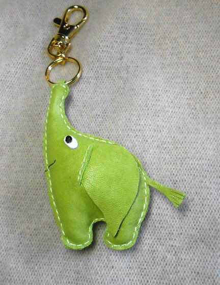 Free shipping Elephant Leather Keychain leather charm by Yarkoko, $19.00 https://www.etsy.com/listing/168820301/free-shipping-elephant-leather-keychain?ref=af_circ_favitem&atr_uid=23339958