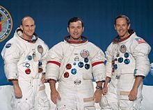 Apollo 16 Crew Members are from Left to Right Thomas K. Mattingly II,John W. Young, Charles M. Duke,Jr.Mission was called Project Apollo