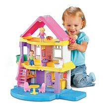 Introduce the fun of dollhouse play with a house that's just right for even little girls. Chunky, easy-to-hold figures, sweet accessories, and lots of room bring a world of imaginative, nurturing play to life!