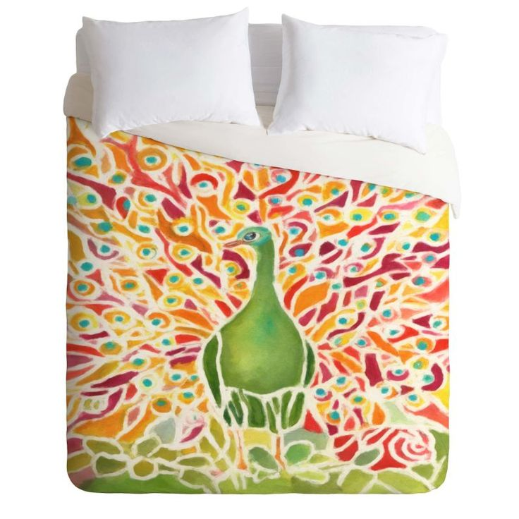 Deny Designs Grove Peacock Bedding Rosie Brown Duvet Cover