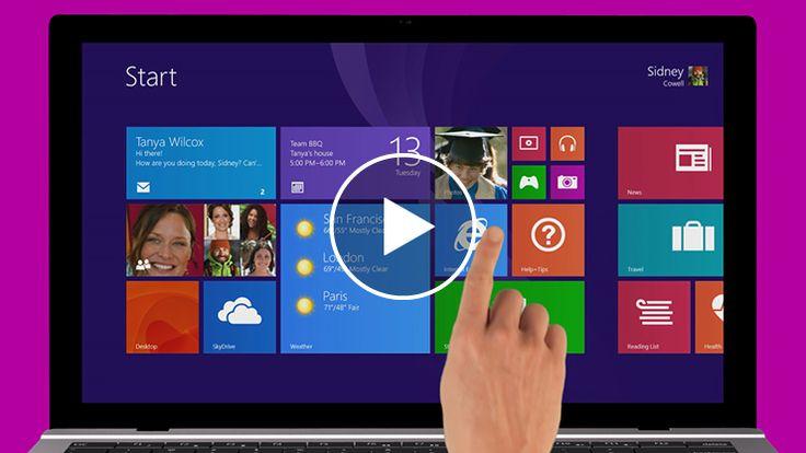 Getting started tutorials for Windows - Microsoft Windows 8.1