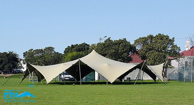 """RHIs Arachnid is a most splendid """"creature"""" of a tent. This eight-sided, 20m in diameter, stretch tent is a striking for festival organisers."""