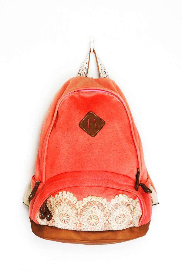 Cute Orange Lace Backpack, $50