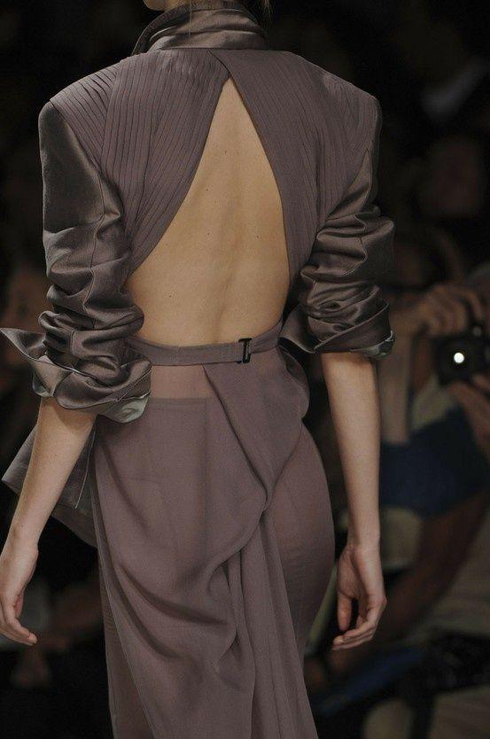 Haider Ackermann amazing dress detail.