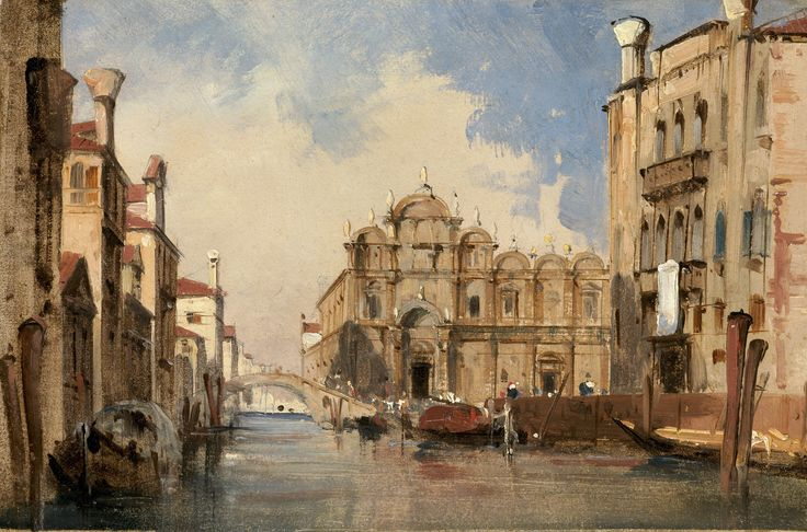 Jules-Romain Joyant, 'The Scuola di San Marco,' Venice, c. 1830, National Gallery of Art, Washington D.C.
