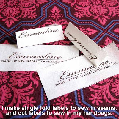 make your own fabric sewing labels, a tutorial.