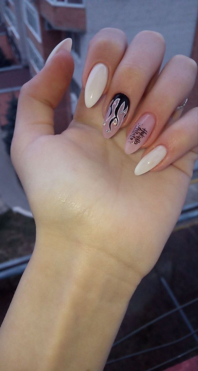 Pin By Pisica Alle On Nails In 2020 Grunge Nails Edgy Nails Short Acrylic Nails