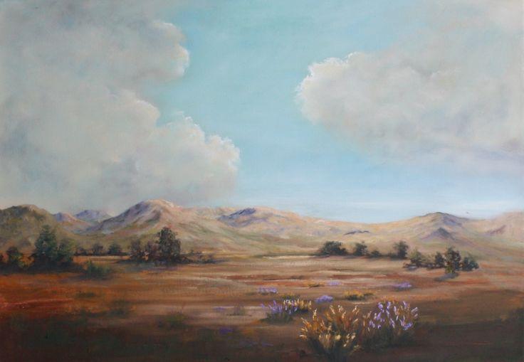 Desert Flowers.  55 x 65cm.  Oil on canvas