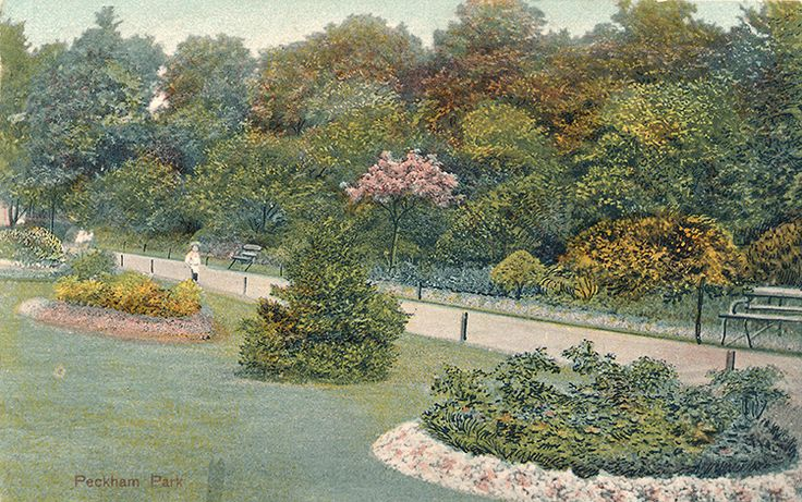 Peckham Park, 1905 For more on the park's history see http://www.foprp.org.uk/#/becoming-a-park/4543697137