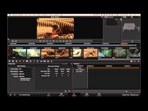 Davinci Resolve Lite 9.1.1 Blackmagic Cinema Camera Raw Workflow Transcode Tutorial Resolve 9 - YouTube