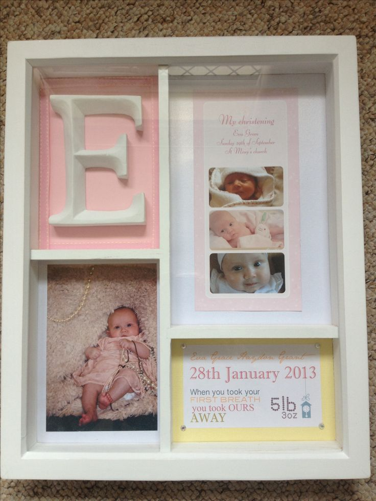 Hand made christening gift. Personal touch