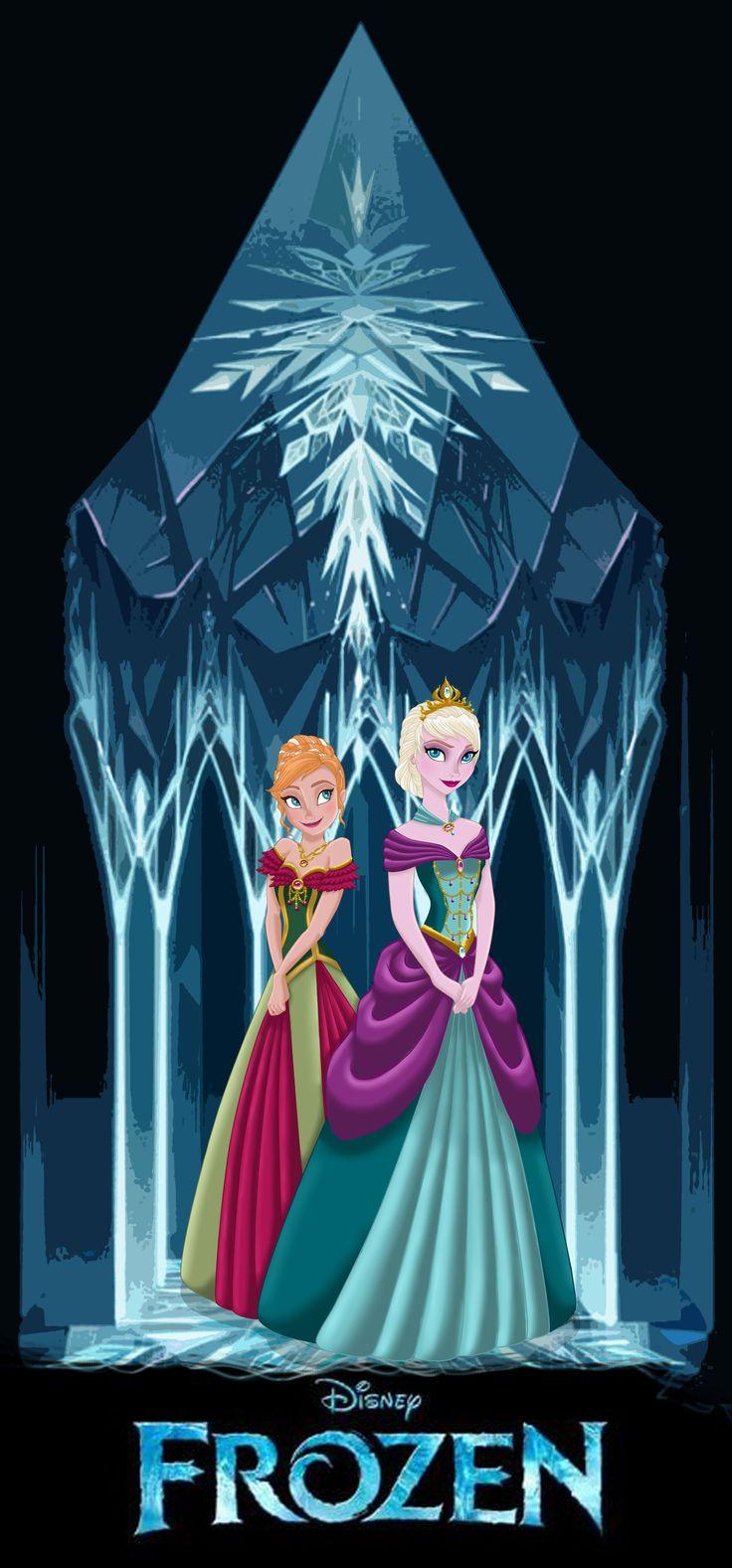 elsa cartoon character | frozen anna and elsa by missmikopete fan art cartoons comics digital ...