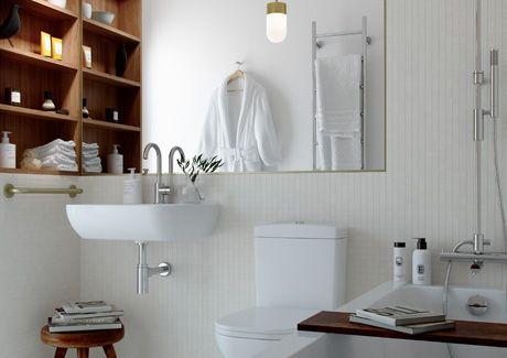Oscar Properties : Biografen #oscarproperties  bathroom, bathtub, mirror, wood