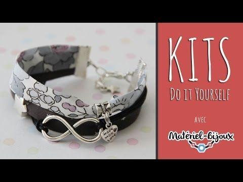 Tutoriel Bracelet en biais Motif et cie par Perlesatoutva - YouTube