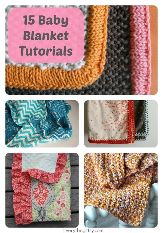 15 Handmade Baby Blanket Tutorials...simple and sweet DIY gifts! :) #DIY #baby
