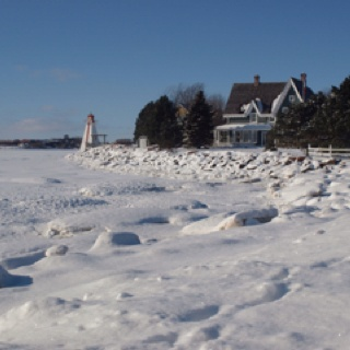 The end of the Charlottetown boardwalk