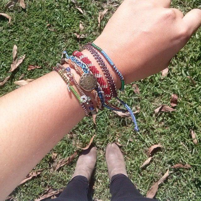 Currently obsessed con mis Wakami bracelets #Wakami #Earthbracelets #guatemala…