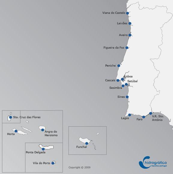 Previsão de Marés - Portugal | Instituto Hidrográfico