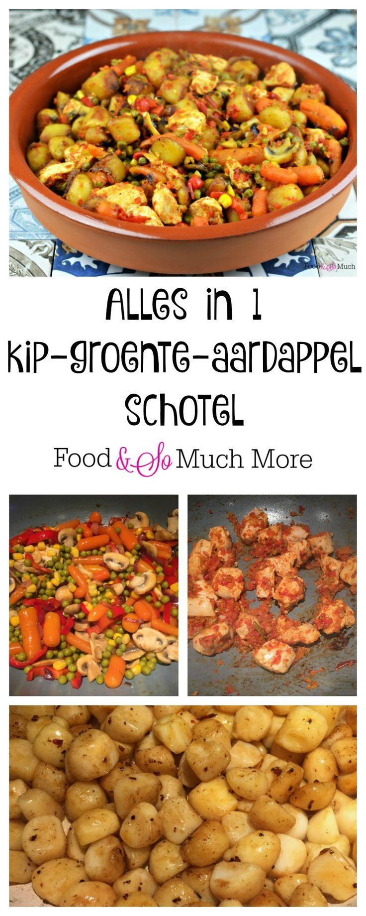 Heerlijke alles in 1 schotel met kip, groente en aardappel. Recept van foodensomuchmore.nl